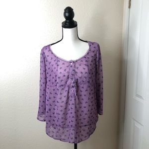 Kirra Semi Sheer Blouse Size Medium